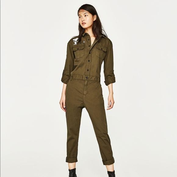 7341584db6b Zara Long Jumpsuit with Pockets Snoopy NWT